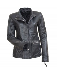 I am Legend Anna Montez (Alice Braga) Black Biker Jacket